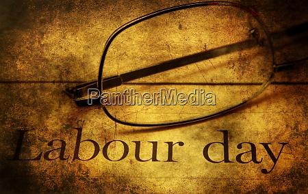 labor day grunge concept