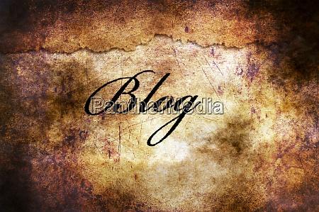 blog text on grunge background
