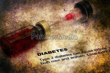 diabetes disease grunge concept