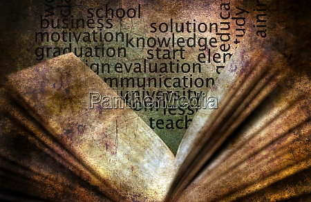book and knowledge grunge concept