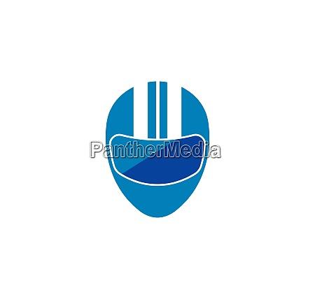 helmet vector icon logo illustration