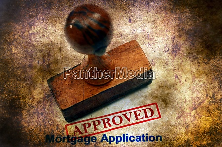 mortgage application approved grunge concept