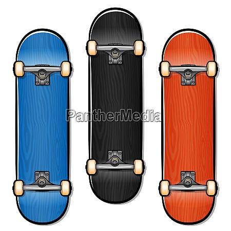 vector skateboard cartoon isolated design
