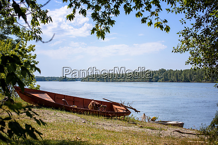 summer landscape of the river with
