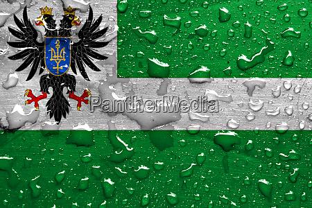 flag of chernihiv oblast with rain
