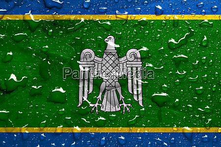 flag of chernivtsi oblast with rain
