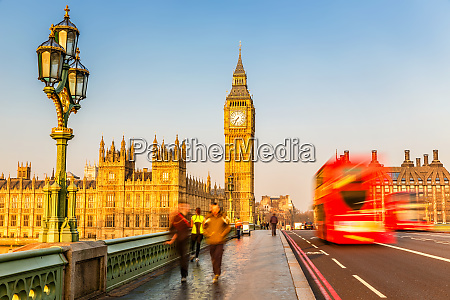 big ben and red double decker