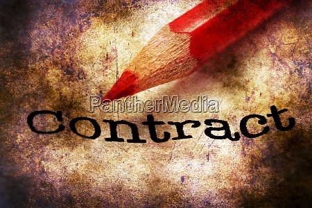 pencil on contract grunge concept