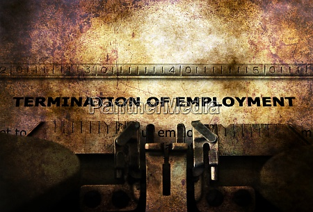 termination of employment form on typewriter