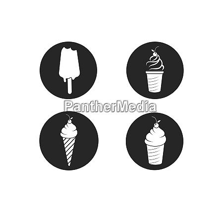 ice cream logo vecctor template