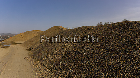 gravel pile at the quarry industrial