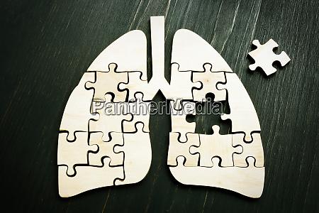 lung cancer or respiratory disease concept