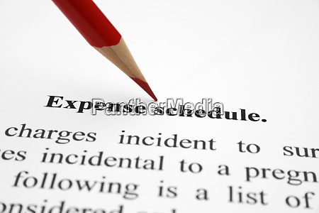 expense schedule