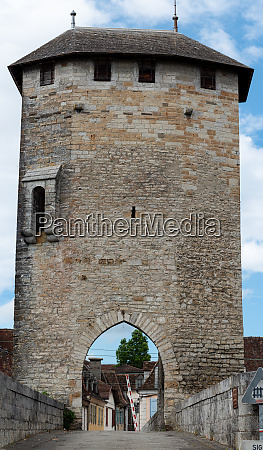 medieval bridge over river gave de