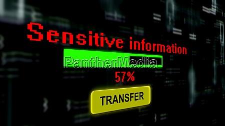 transfer sensitive information online progress bar