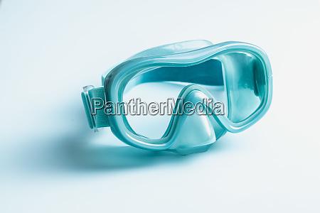 blue diving mask