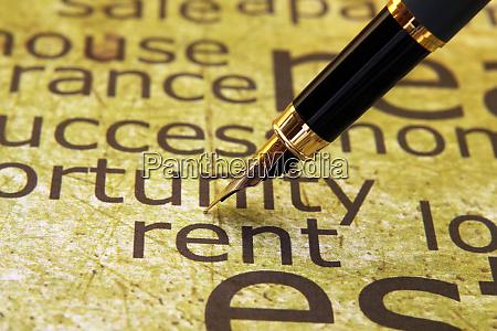rent word cloud