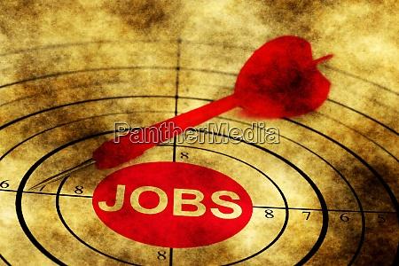 job target grunge concept