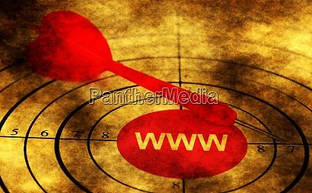 dart on www grunge concept