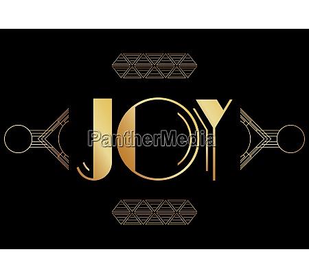 art deco joy text