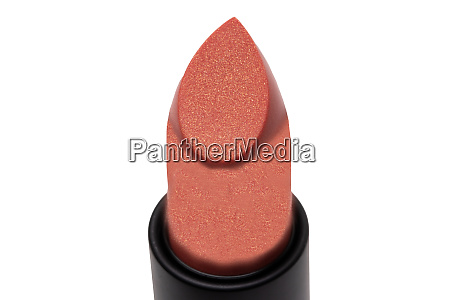 pink lipstick isolated close up of