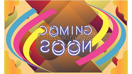 a coming soon message in a