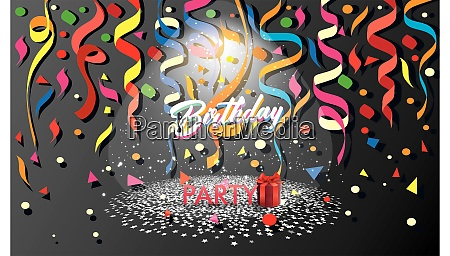 happy birthday party poppers with gift