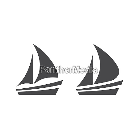 boat or yacht simple black vector
