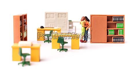miniature people female couple love at