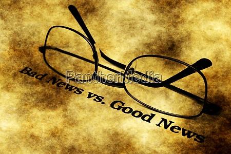 bad news versus good news