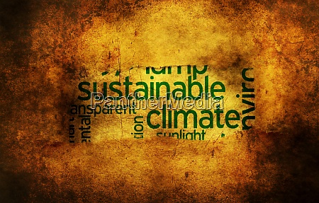 sustainable climate grunge concept