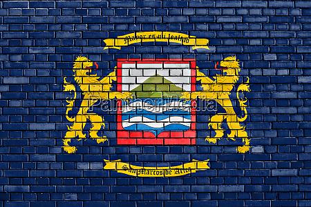 flag of arica painted on brick