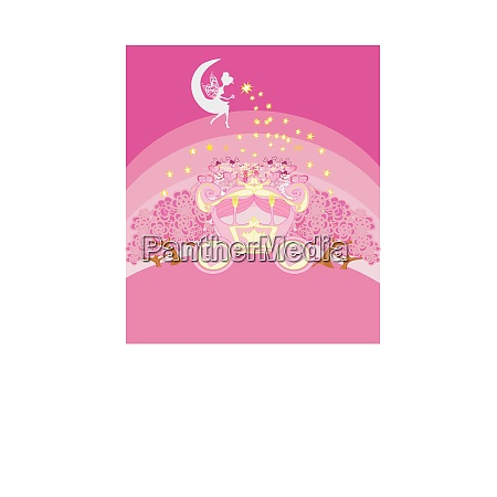 abstract fairy tale invitation card