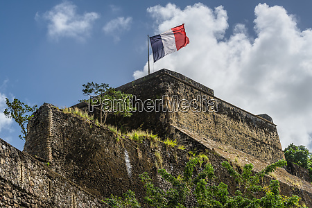 french flag on a top of