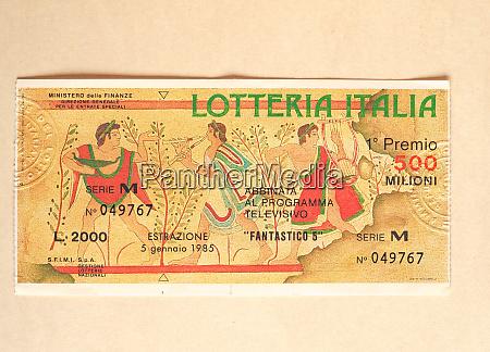 rome jun 2020 vintage lotteria