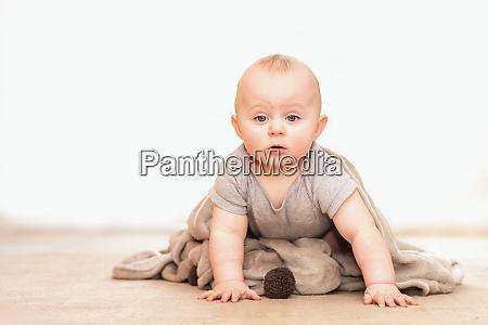 curious caucasian infant