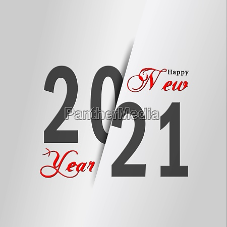year change 2021 with lettering happy