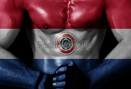 muscle with flag
