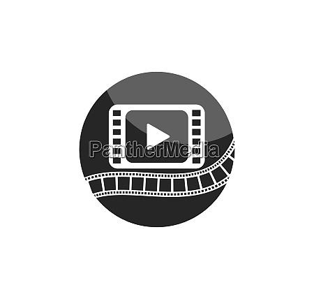 film festival template vector illustration