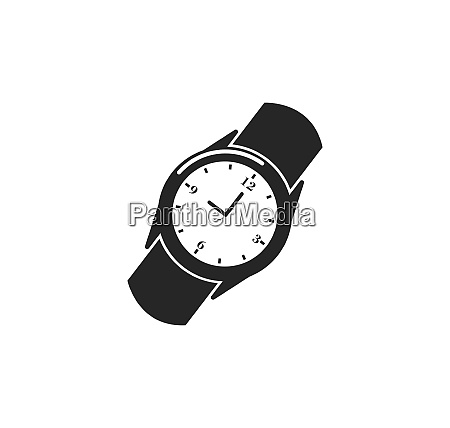 wristwatch icon vector template design