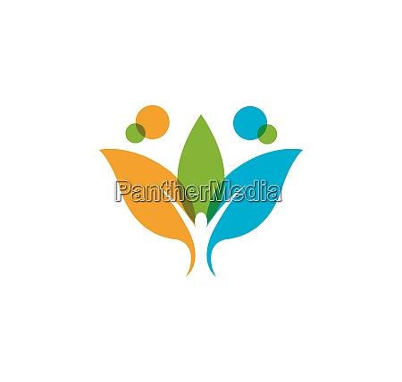 healthy life medical logo template vector