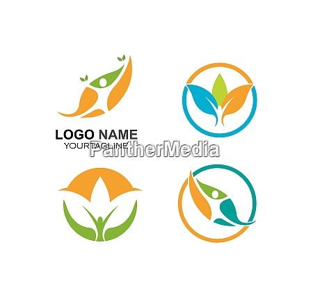healthy life medical logo template vector