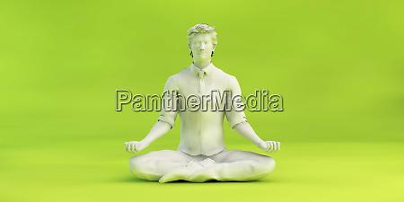 business man lotus position