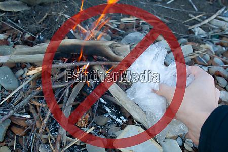 plastic bag burn
