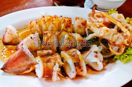 squid grilled squid asia bbq