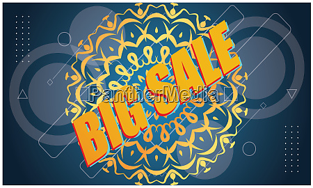 big sale offers on abstract background