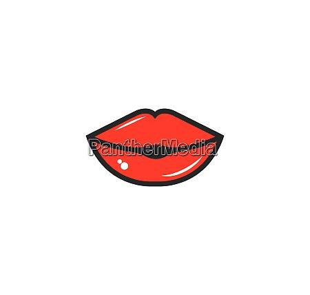 lips icon vector template design