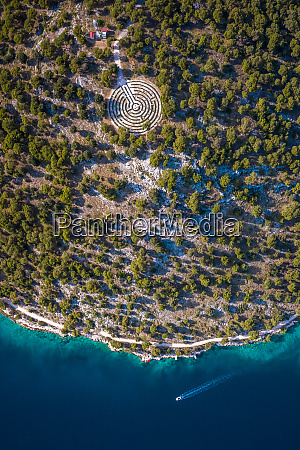 aerial view of the shoreline in