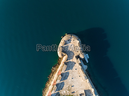aerial view above of st nicholas