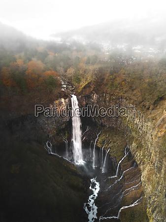 aerial view of the keagon falls